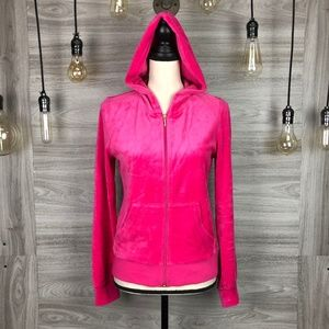 Juicy Couture Hot Pink Velour Sweater Size Medium